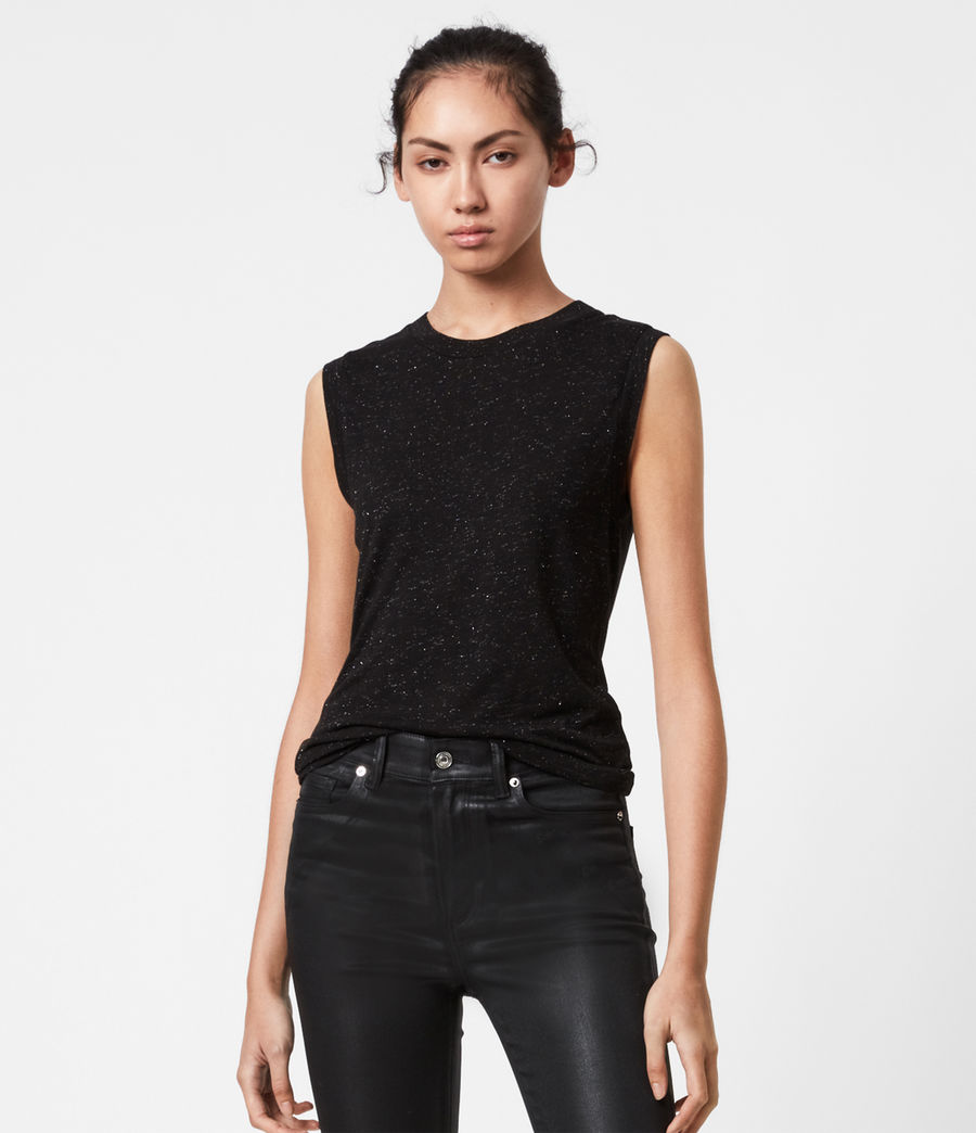 Mujer Imogen Shimmer Tank (black) - Image 1