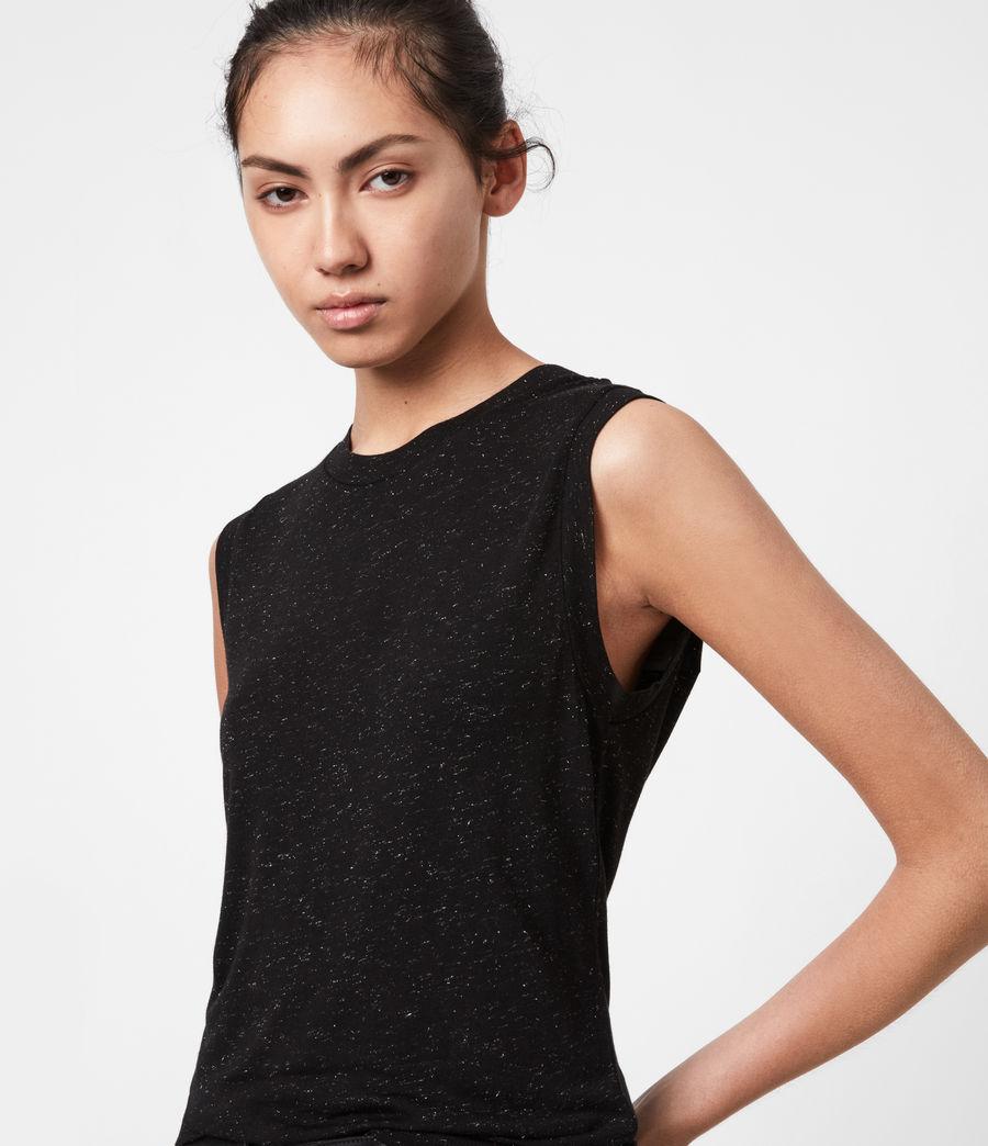 Women's Imogen Shimmer Tank (black) - Image 4