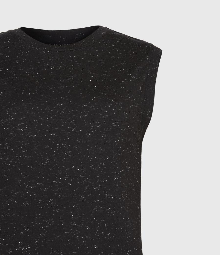 Womens Imogen Shimmer Tank (black) - Image 5