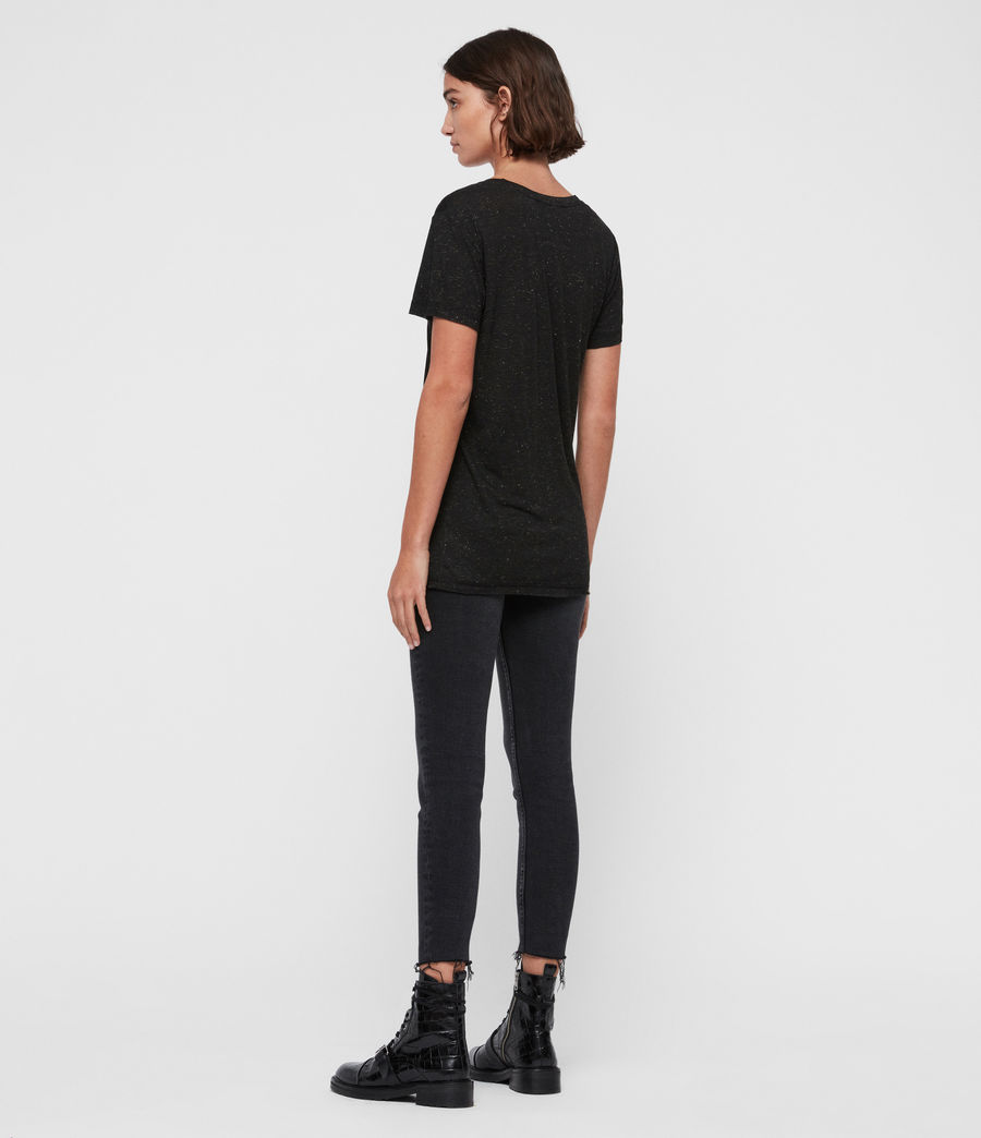 Damen Emelyn Schimmer T-Shirt (black) - Image 4