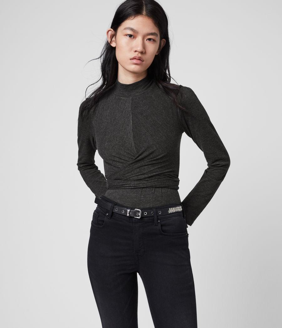 Women's Veronika Top (charcoal_grey) - Image 1