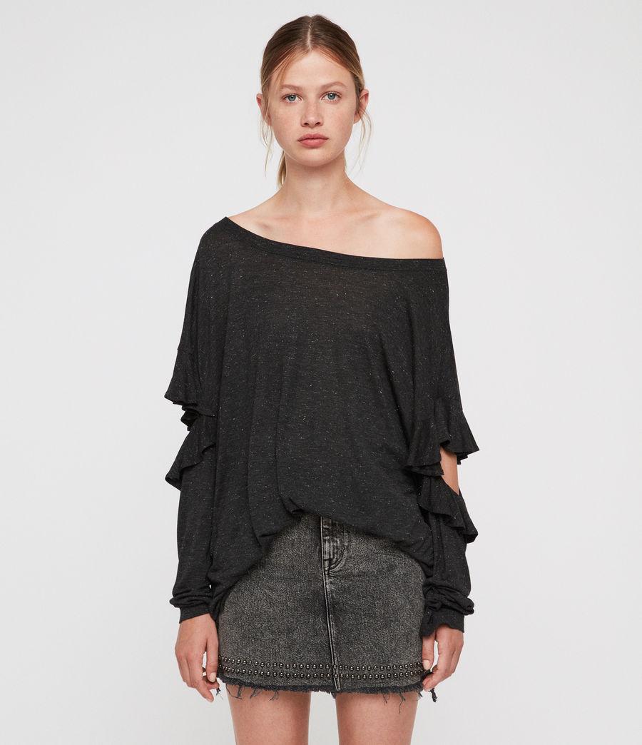 Womens Favro Shimmer T-Shirt (charcoal_marl) - Image 1