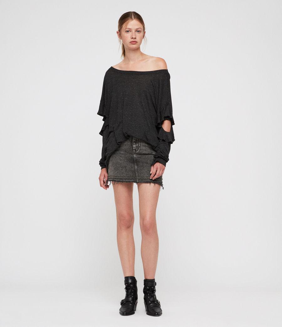 Womens Favro Shimmer T-Shirt (charcoal_marl) - Image 3