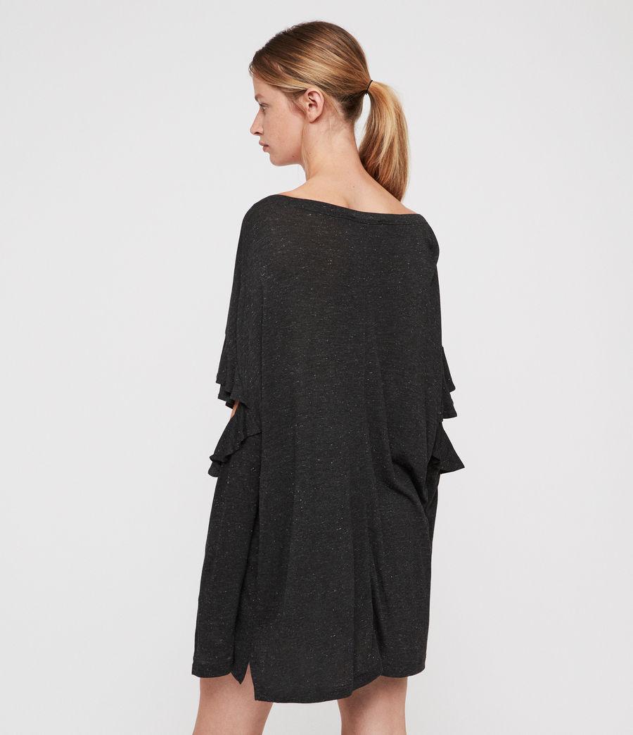 Womens Favro Shimmer T-Shirt (charcoal_marl) - Image 4
