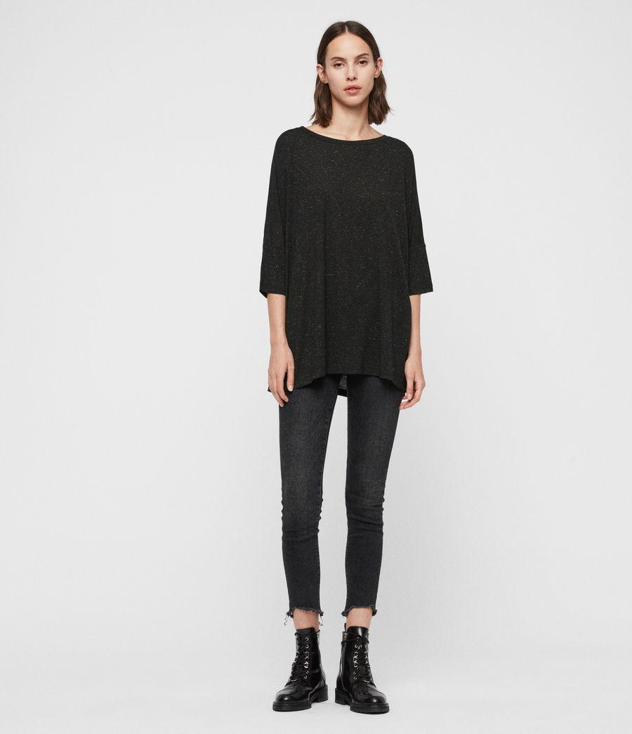 Femmes T-Shirt Shimmer Plira (black) - Image 1