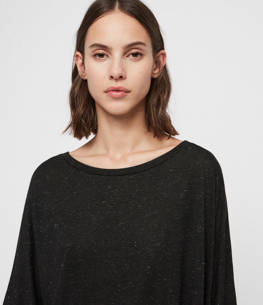 Mujer Camiseta Efecto Glitter Plira Shimmer (black) - Image 2