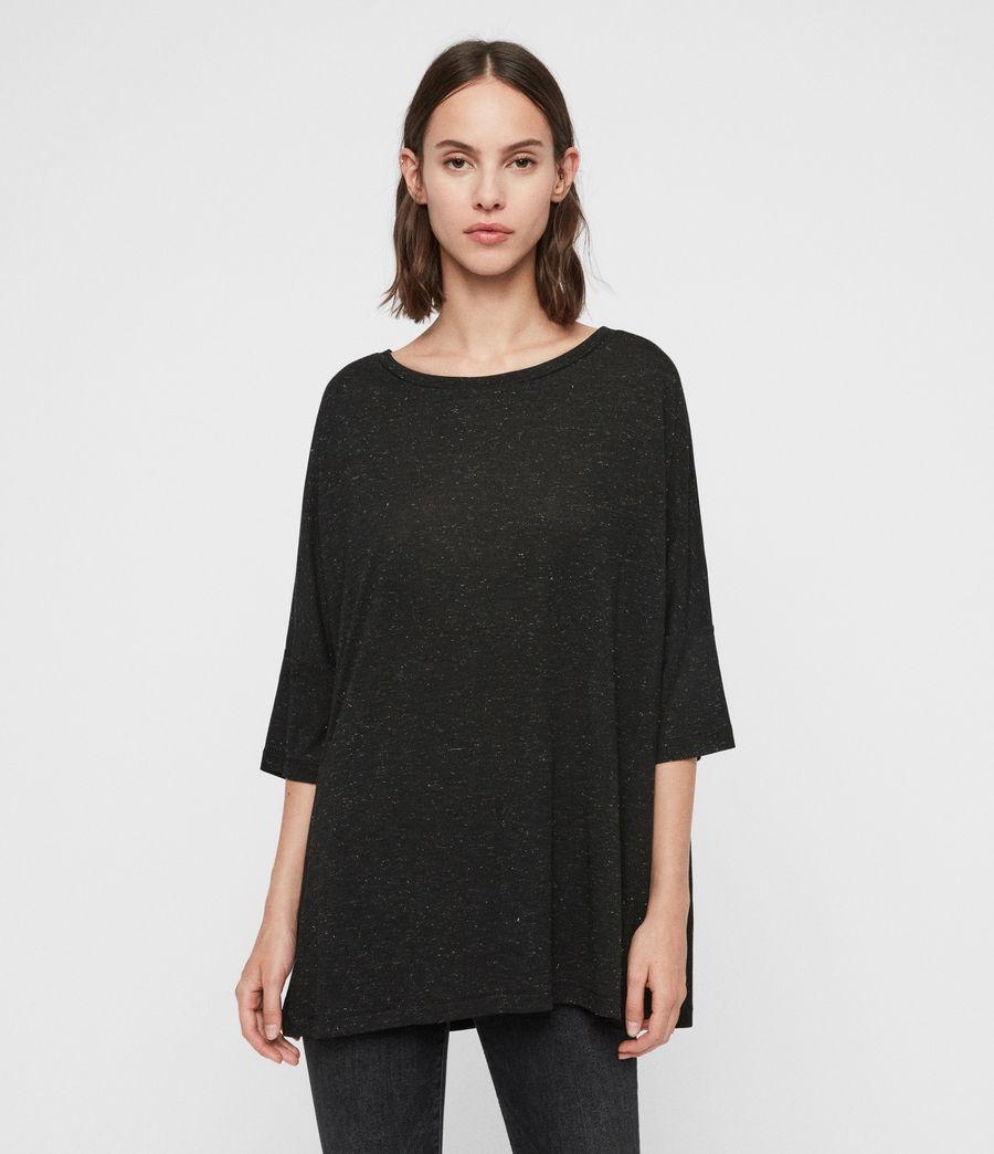 Femmes T-Shirt Shimmer Plira (black) - Image 4