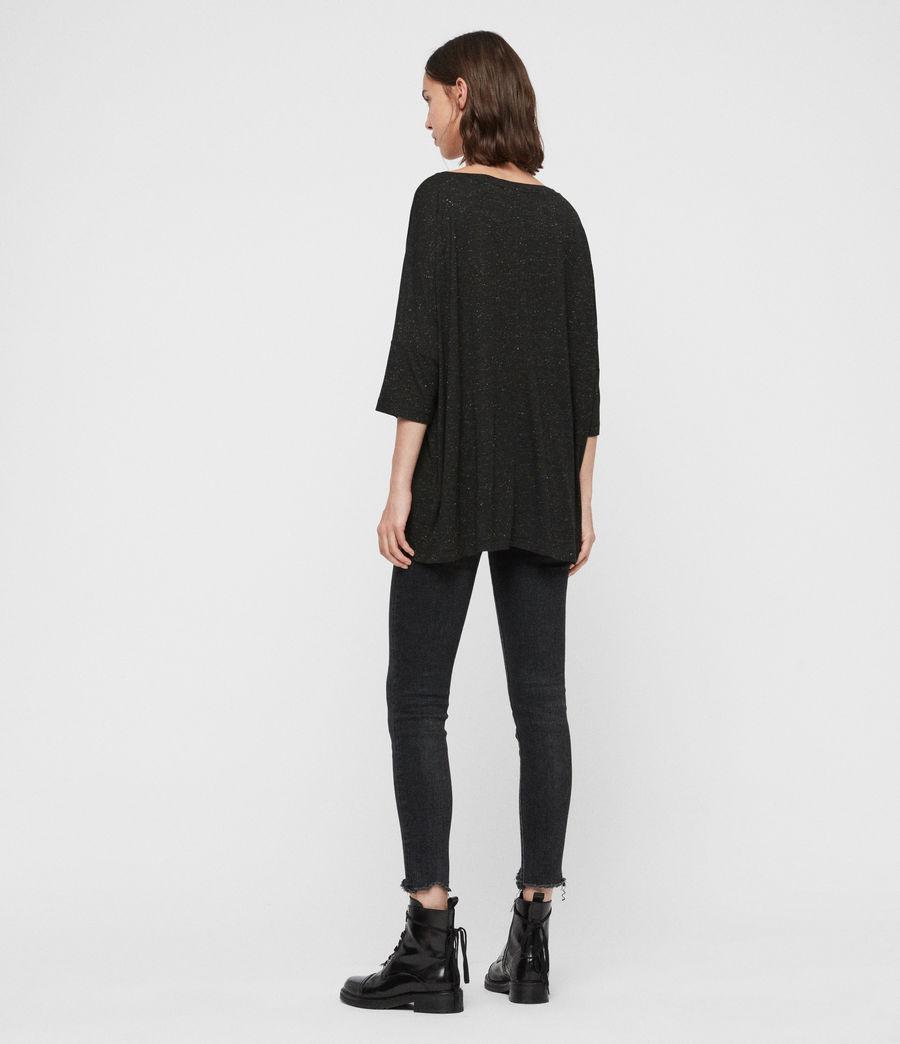Women's Plira Shimmer T-Shirt (black) - Image 5