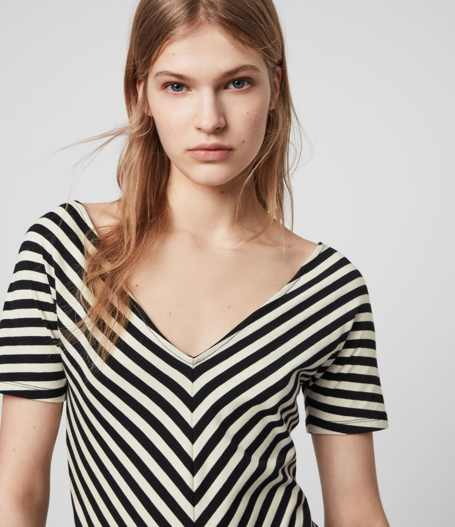 Mujer Keavey Stripe Bodysuit (black_chalk_white) - Image 5