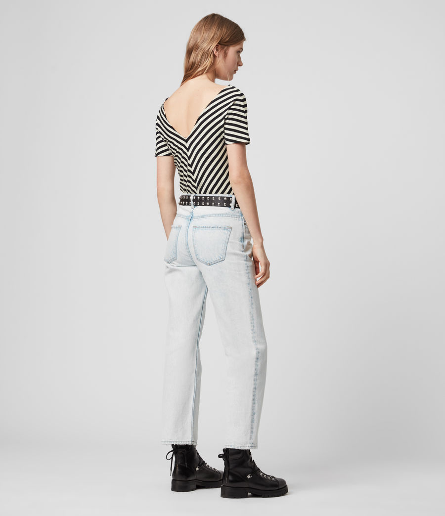 Mujer Keavey Stripe Bodysuit (black_chalk_white) - Image 6