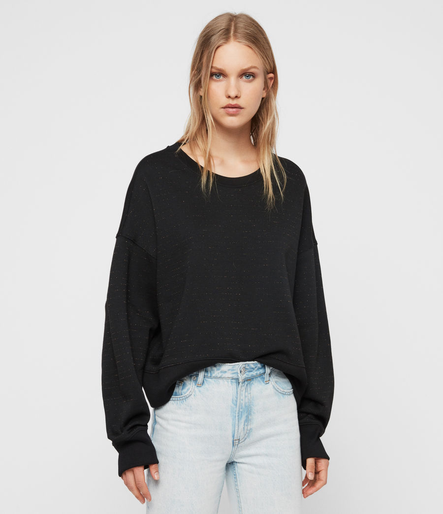 Damen Piro Schimmer Sweatshirt (copper_black) - Image 1