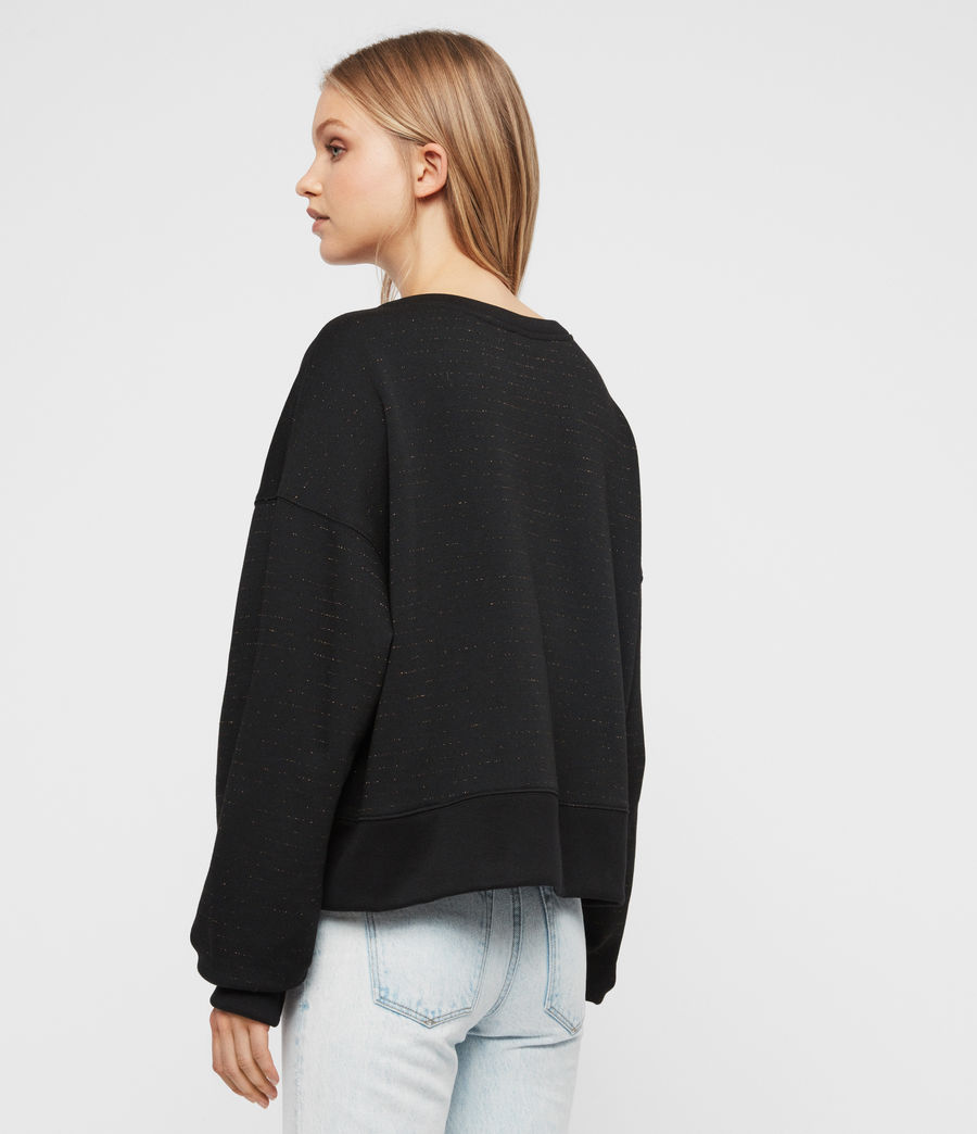 Damen Piro Schimmer Sweatshirt (copper_black) - Image 4