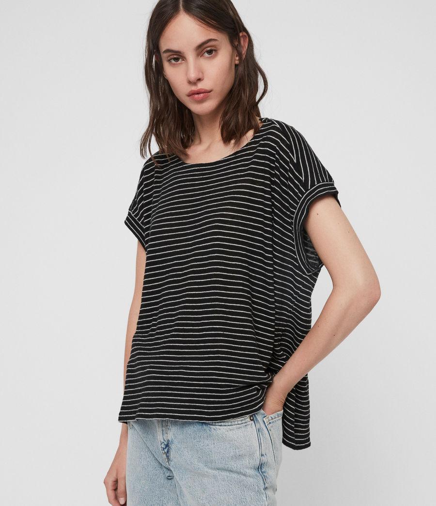 Donne T-shirt Pina Stripe (black_ecru_white) - Image 2