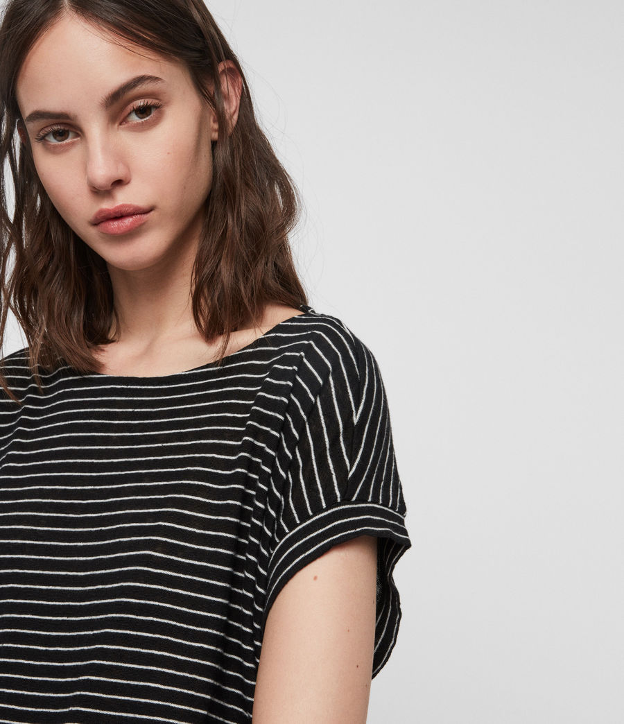 Donne T-shirt Pina Stripe (black_ecru_white) - Image 3