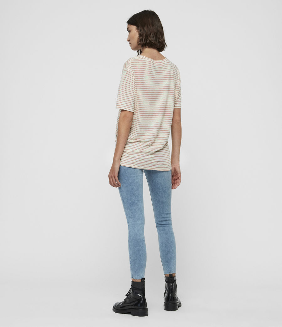 Womens Wilma Stripe T-Shirt (chalk_ink) - Image 5