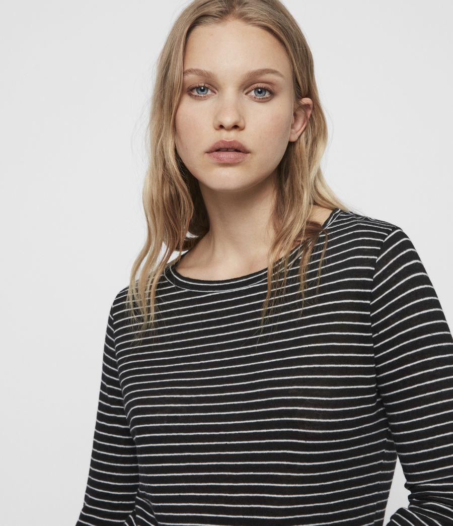 Femmes T-Shirt Manches Longues Esme (black_ecru_white) - Image 3