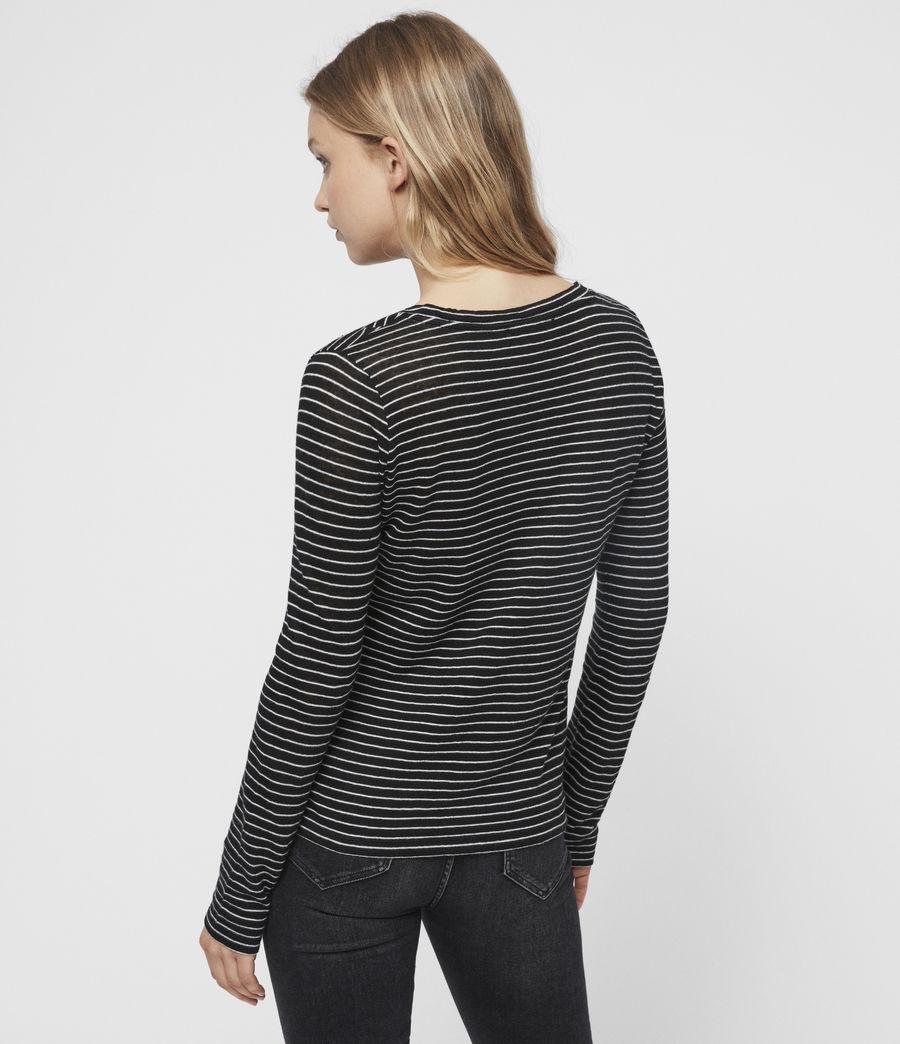 Womens Esme Stripe T-Shirt (black_ecru_white) - Image 5