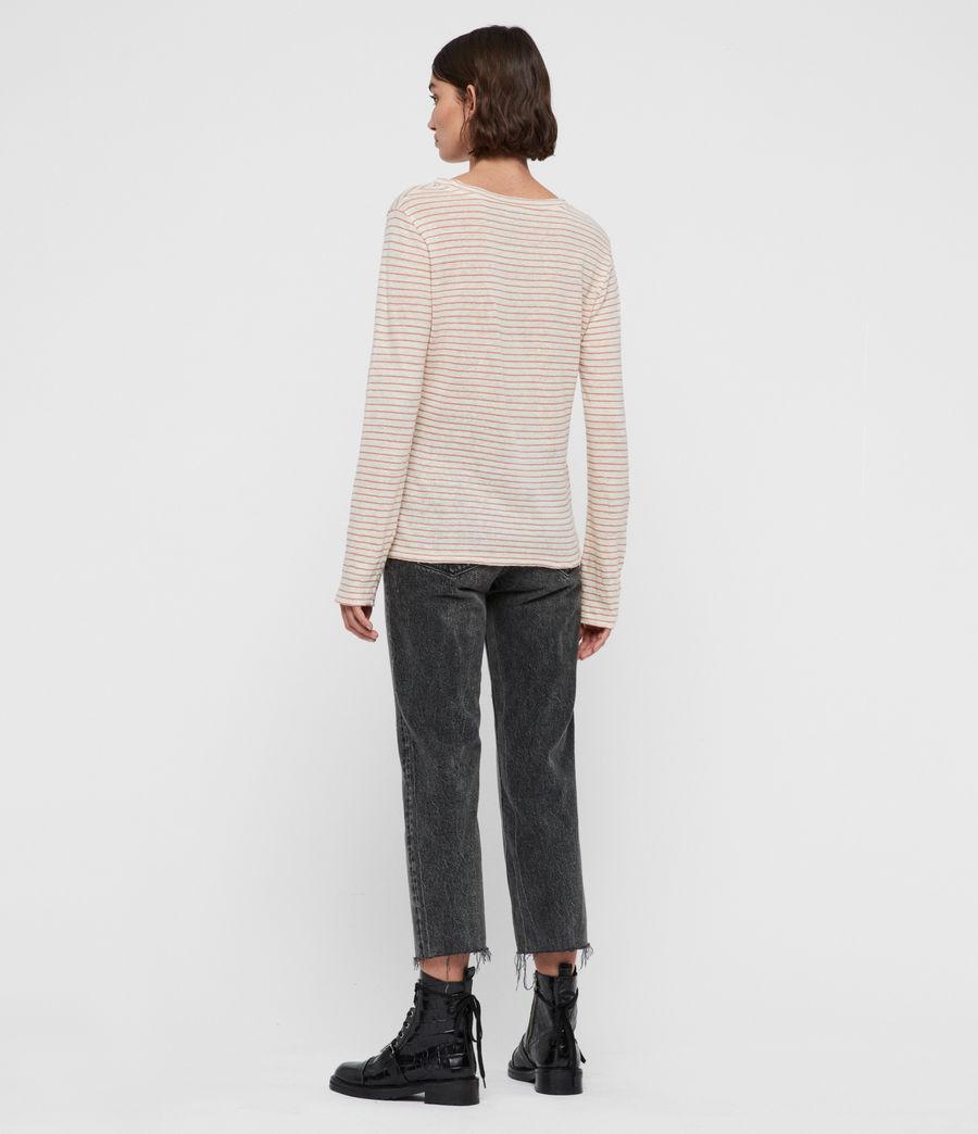 Womens Esme Stripe T-Shirt (black_ecru_white) - Image 4
