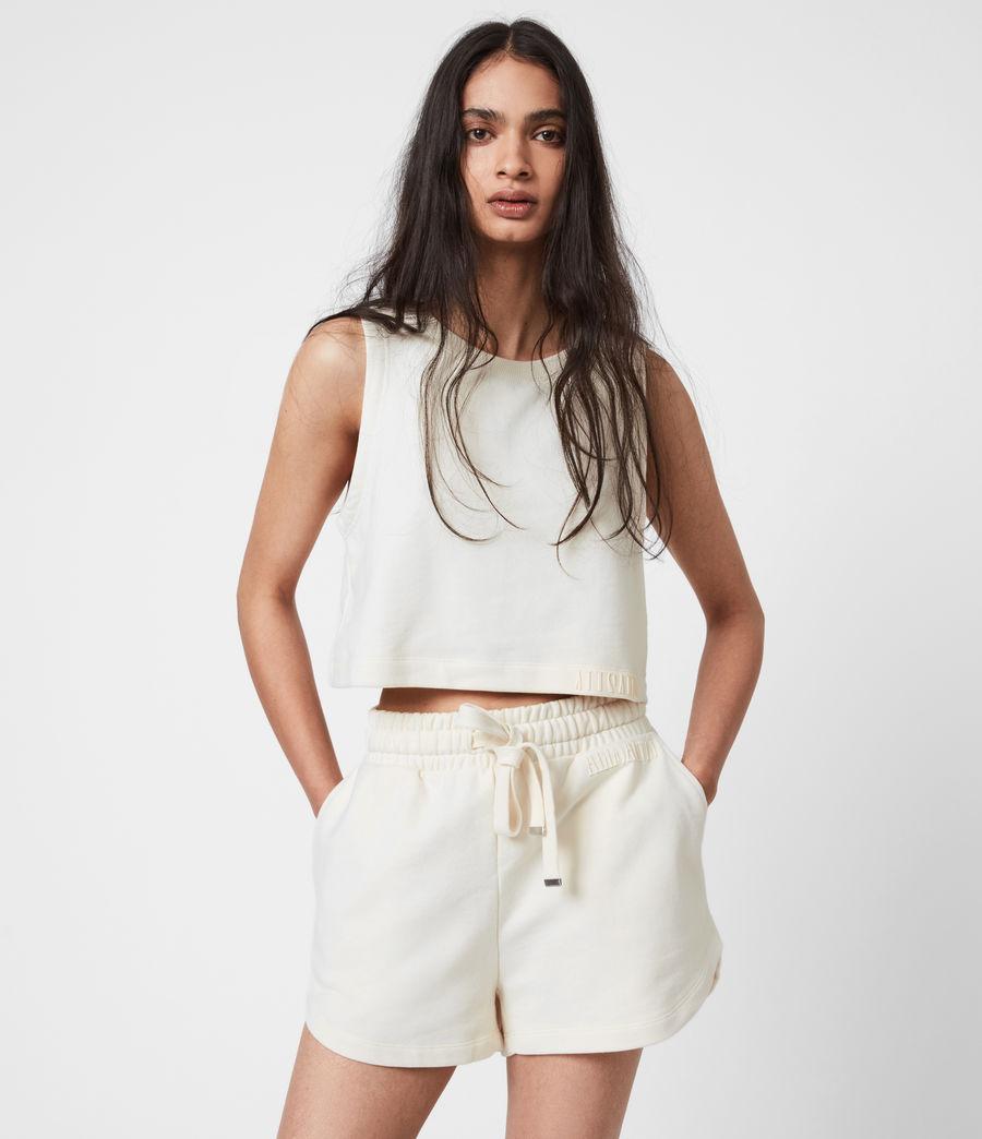 Women's Lila Crop Sweat Top (ecru_white) - Image 1
