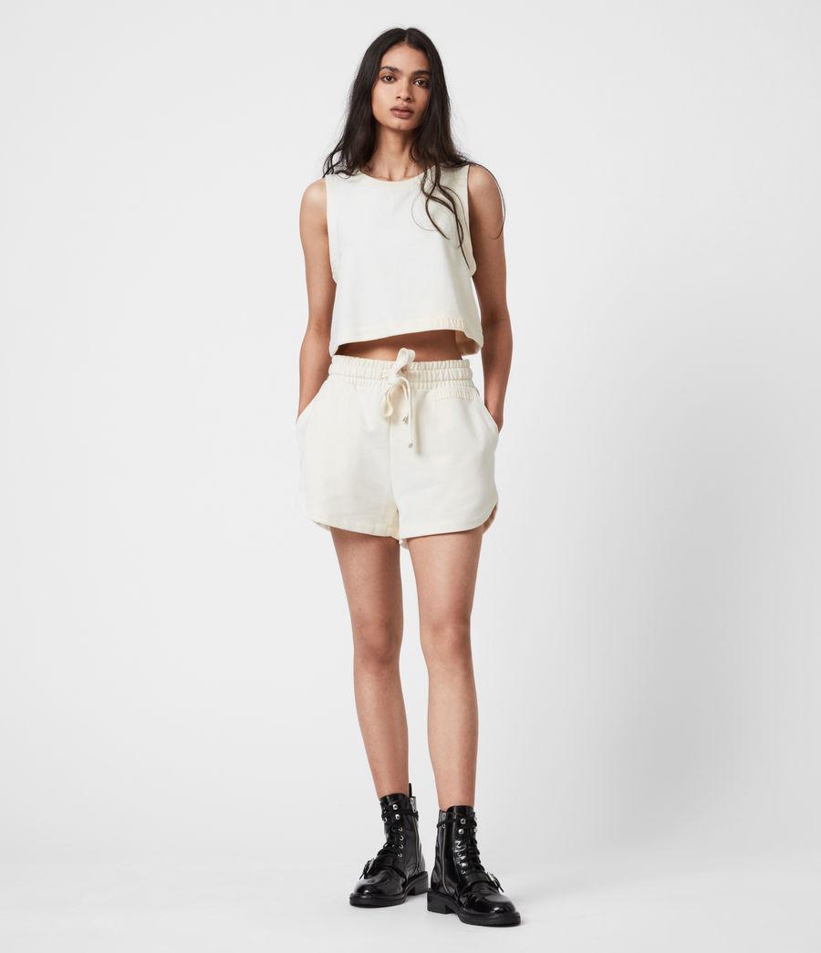 Women's Lila Crop Sweat Top (ecru_white) - Image 7