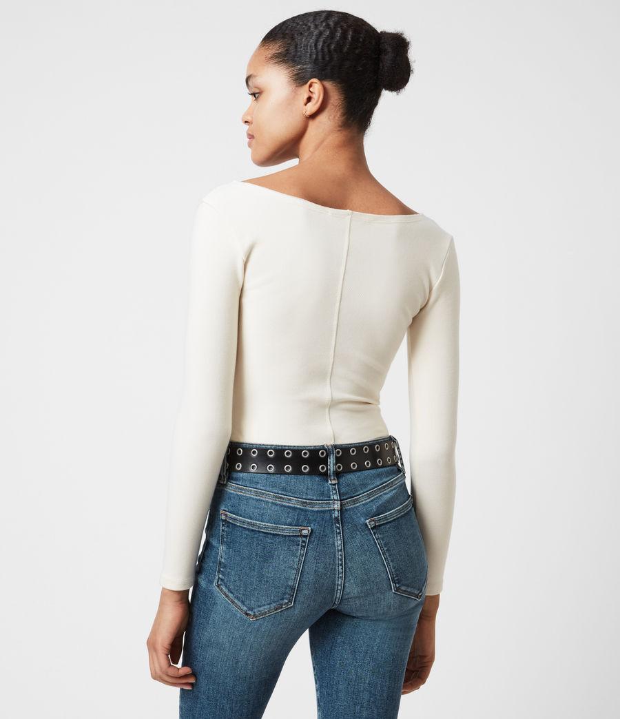 Damen Jamie Larngarm Bodysuit (linnet_white) - Image 6