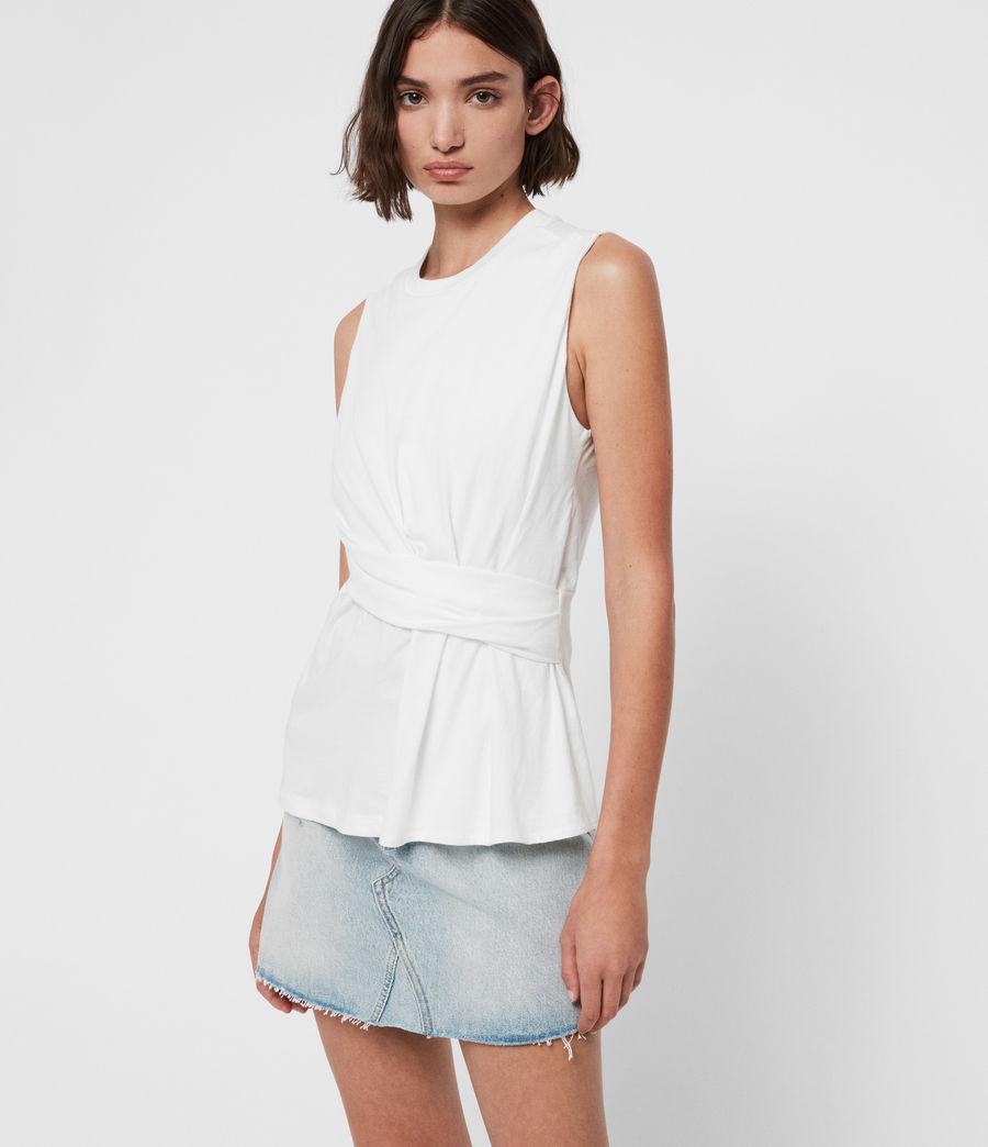 Mujer Camiseta sin Mangas Limera (chalk_white) - Image 1