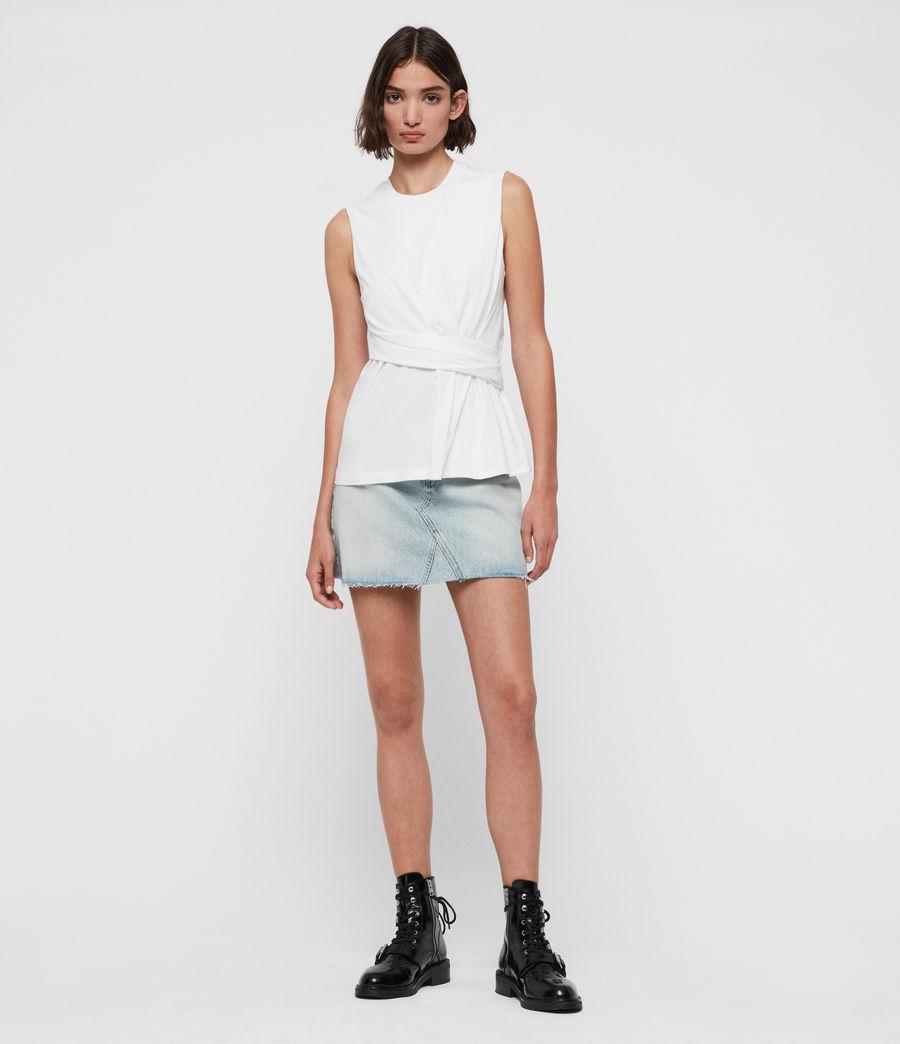 Mujer Camiseta sin Mangas Limera (chalk_white) - Image 3