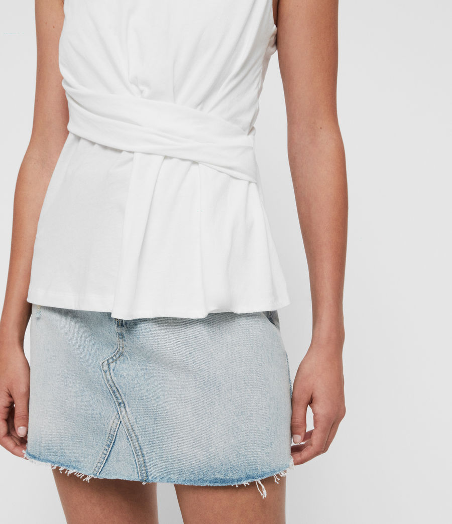 Mujer Camiseta sin Mangas Limera (chalk_white) - Image 4