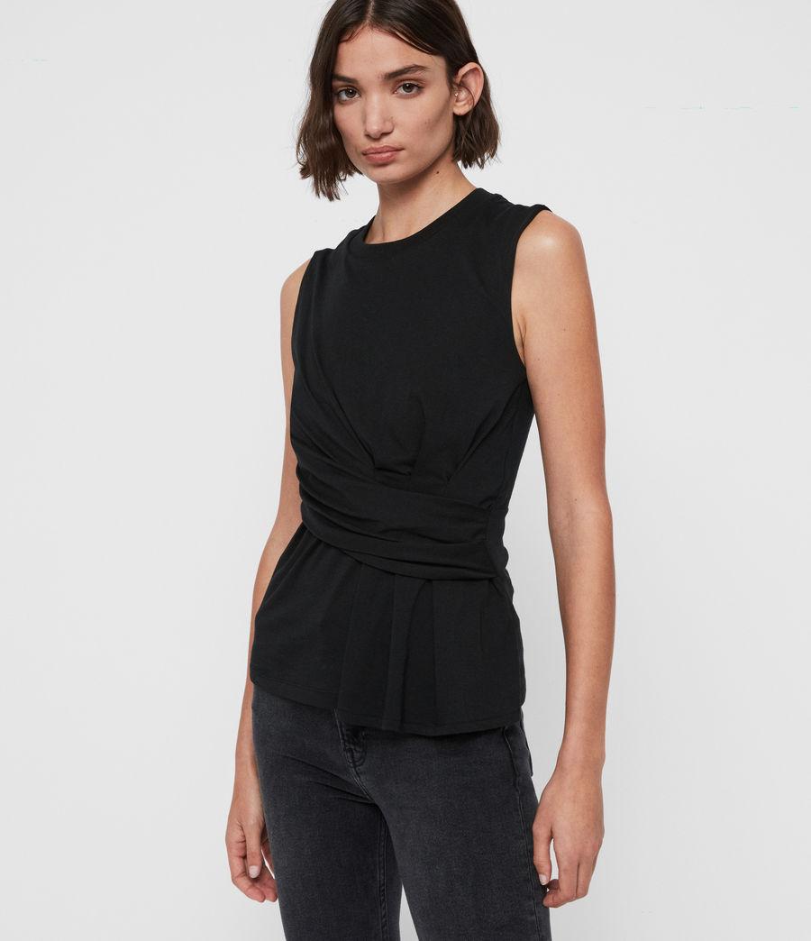Mujer Camiseta sin Mangas Limera (black) - Image 1