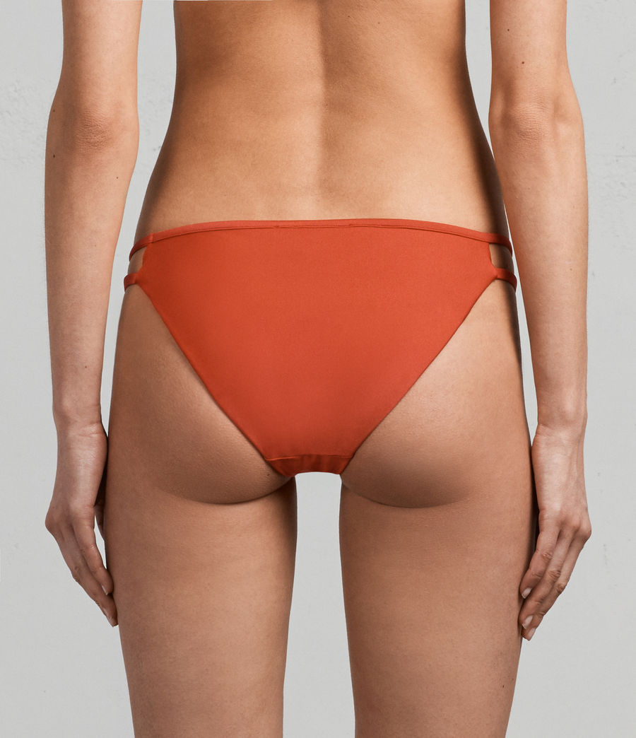 Donne Slip Bikini Cassia Metallic (poppy_red) - Image 4