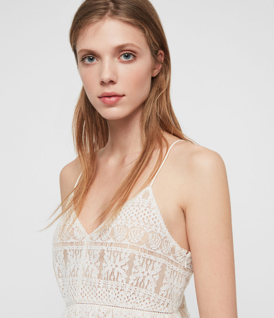 Mujer Top de Tirantes Natalia Lace (oyster_white) - Image 4