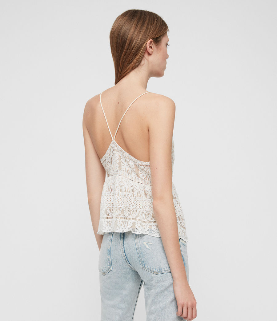 Women's Natalia Lace Top (oyster_white) - Image 5