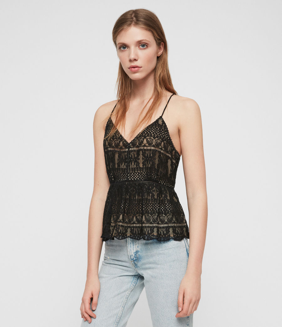 Women's Natalia Lace Top (black) - Image 1
