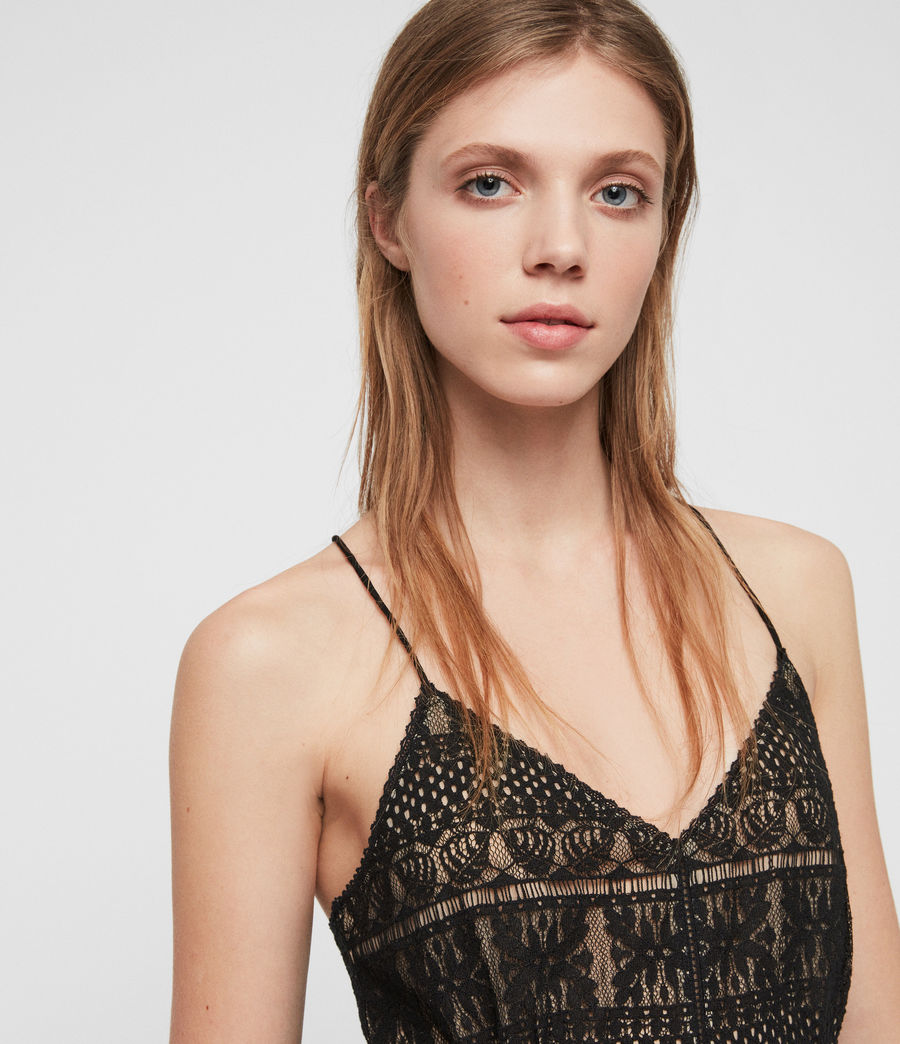 Women's Natalia Lace Top (black) - Image 3