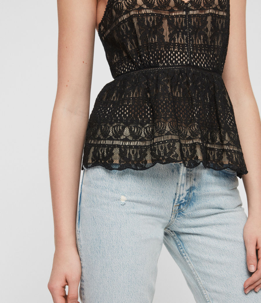 Women's Natalia Lace Top (black) - Image 4