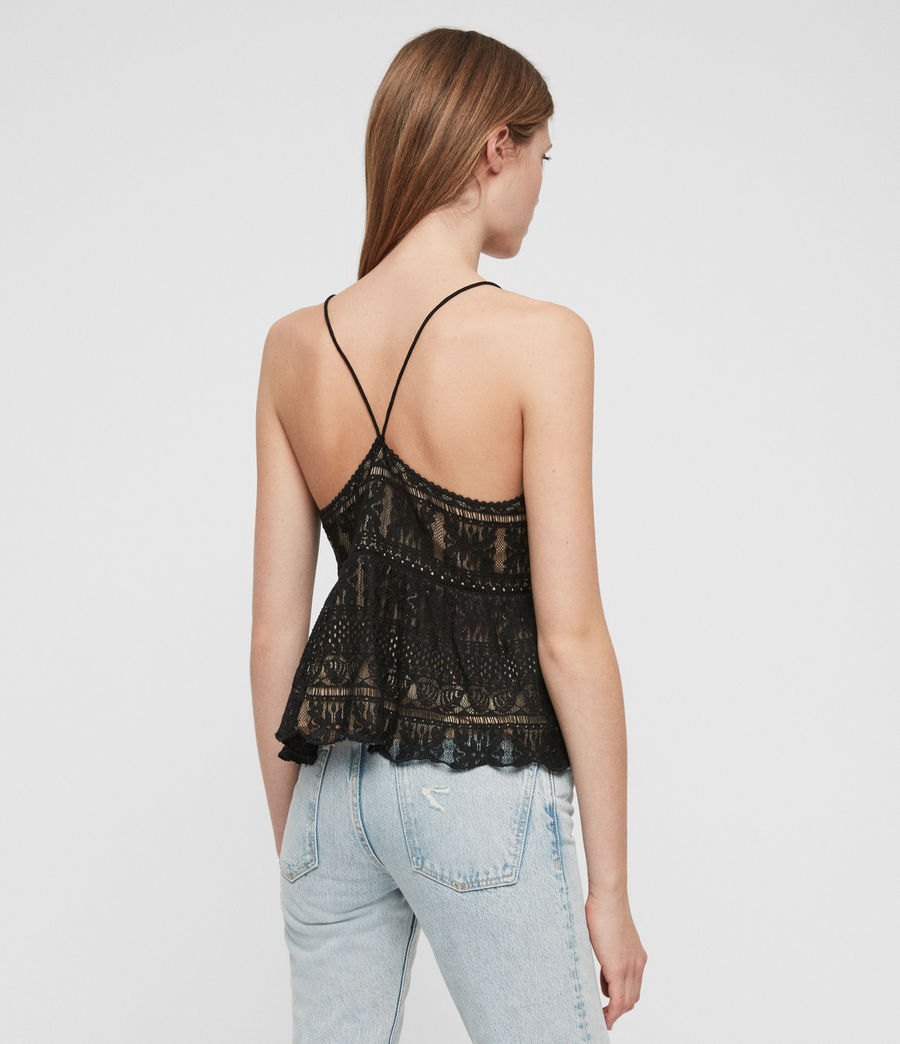 Women's Natalia Lace Top (black) - Image 5