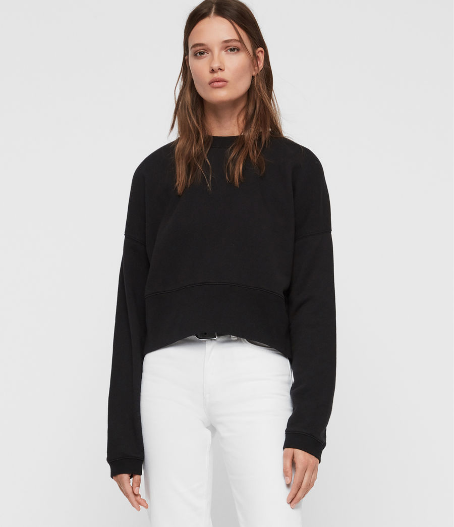 Womens Enrico Sweatshirt (black) - Image 1