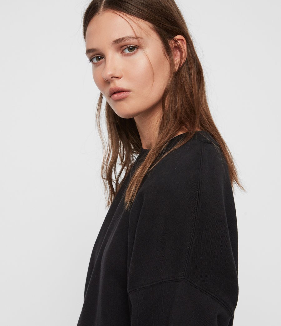 Womens Enrico Sweatshirt (black) - Image 2