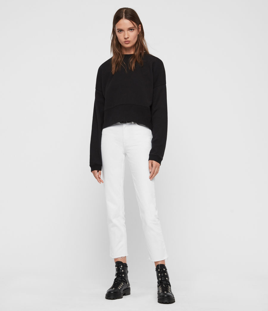 Womens Enrico Sweatshirt (black) - Image 3