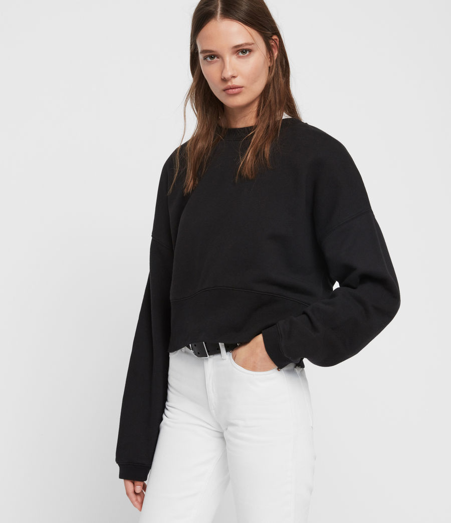 Womens Enrico Sweatshirt (black) - Image 4