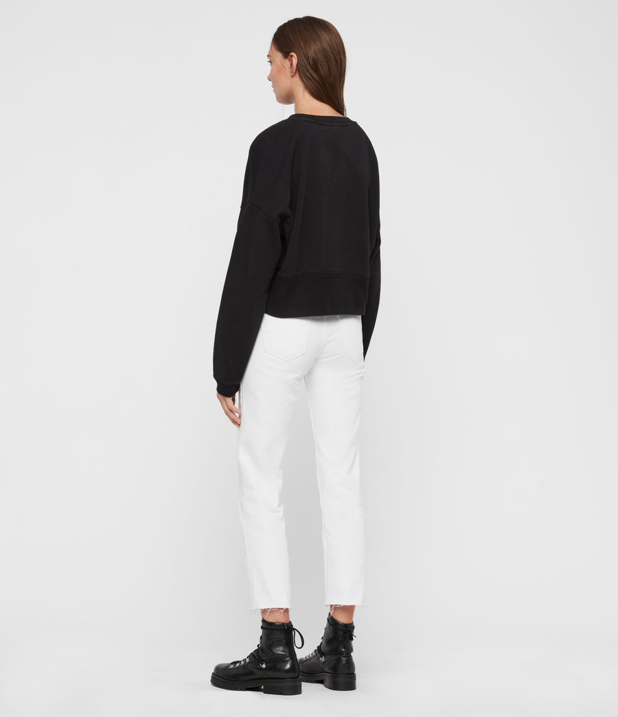 Womens Enrico Sweatshirt (black) - Image 5