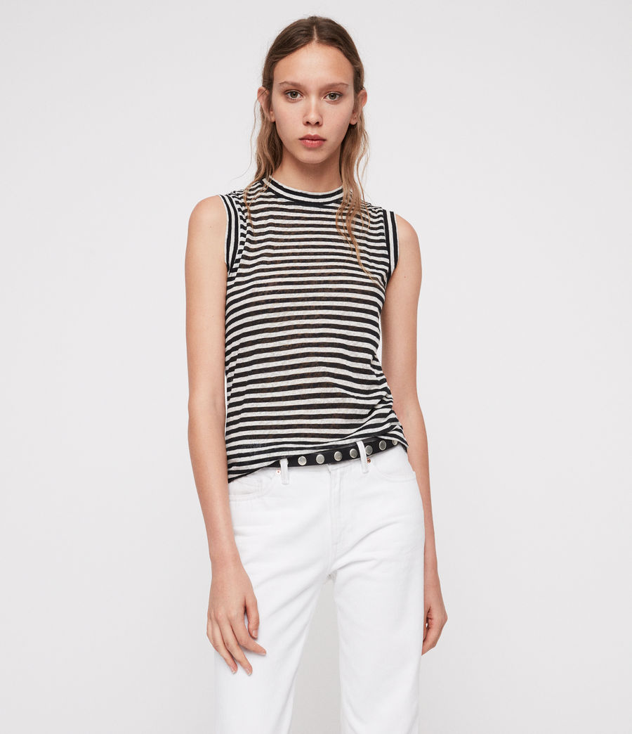 Donne Canotta Imogen Stripe (black_chalk_white) - Image 1