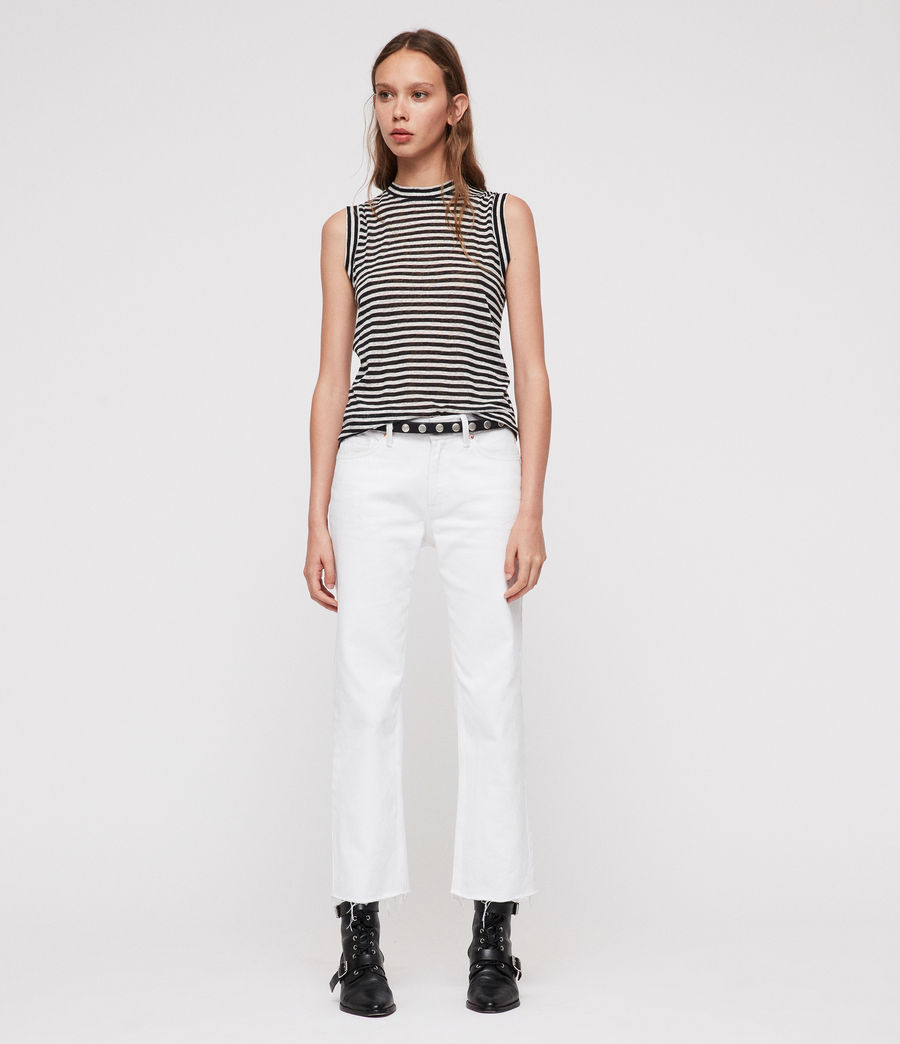 Donne Canotta Imogen Stripe (black_chalk_white) - Image 3