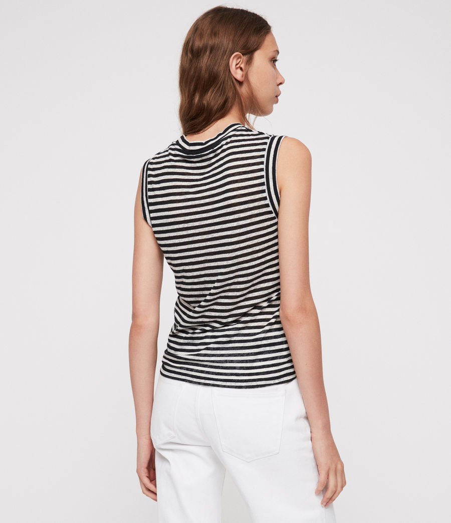 Donne Canotta Imogen Stripe (black_chalk_white) - Image 4