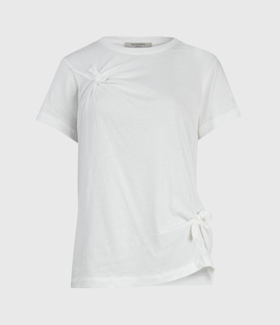 Womens Olivia Knot T-Shirt (chalk_white) - Image 1