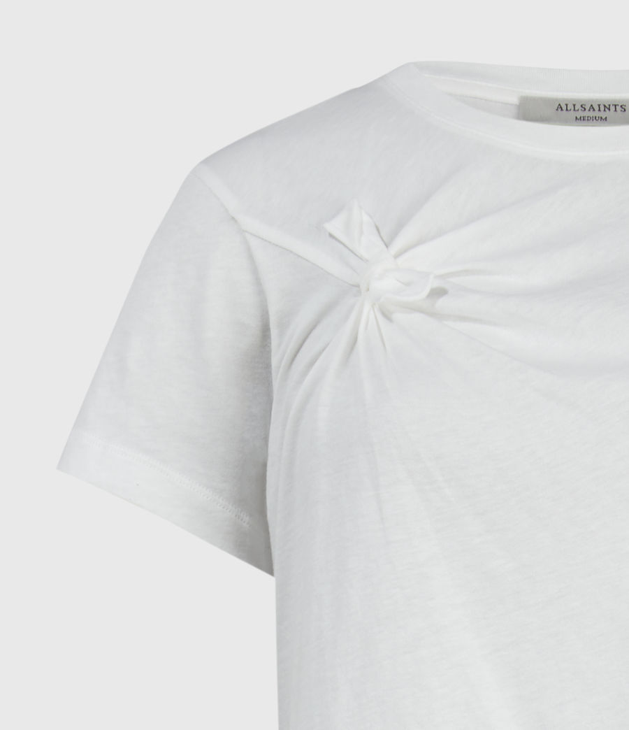 Women's Olivia Knot T-Shirt (chalk_white) - Image 3