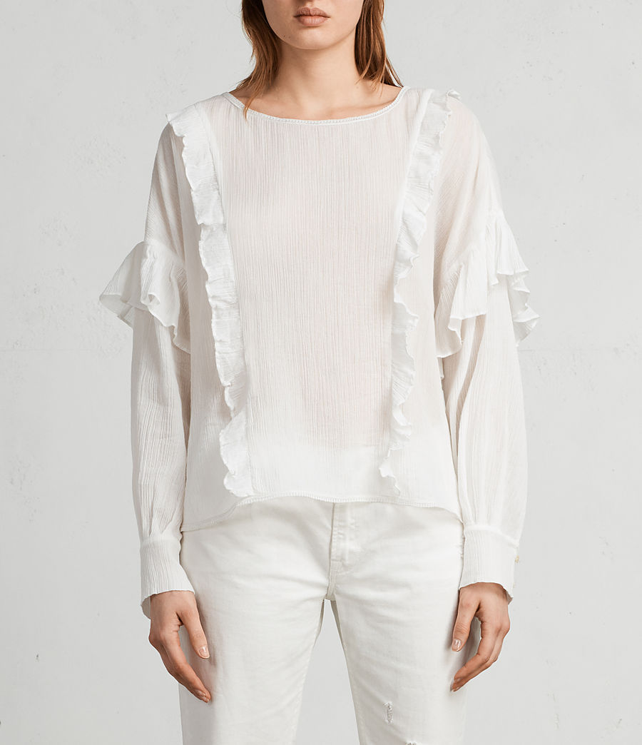 Donne Top Isa (chalk_white) - Image 1