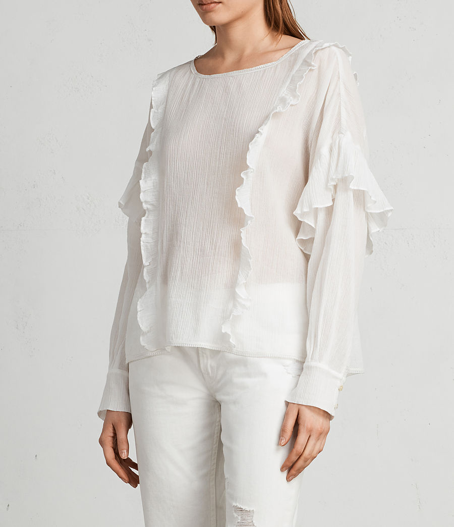 Donne Top Isa (chalk_white) - Image 3