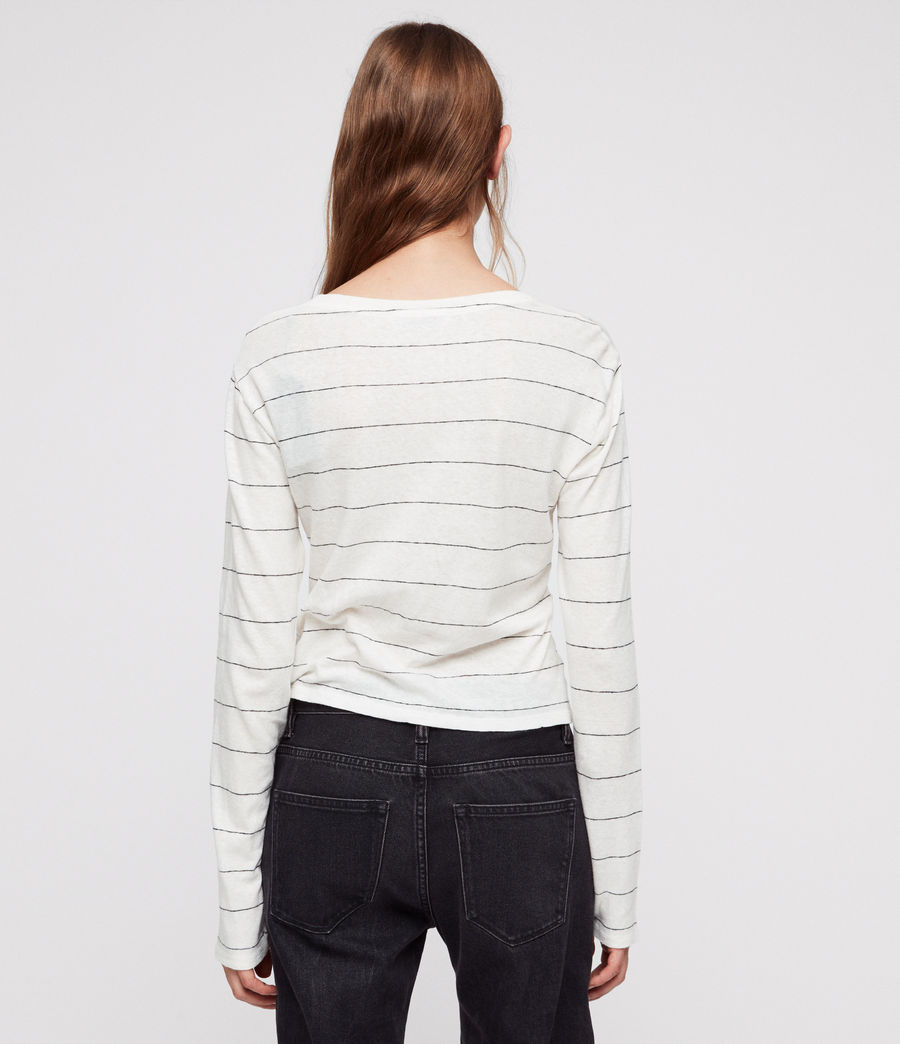 Donne Carme Stripe T-Shirt (chalk_white_black) - Image 4