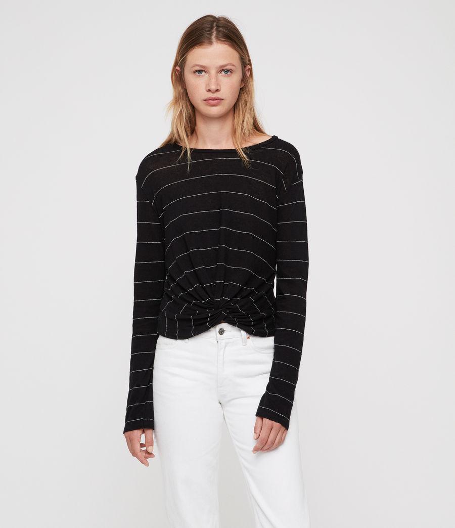 Donne Carme Stripe T-Shirt (black_chalk_white) - Image 1